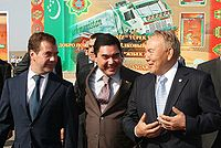 With President Dmitry Medvedev and President of Kazakhstan Nursultan Nazarbayev