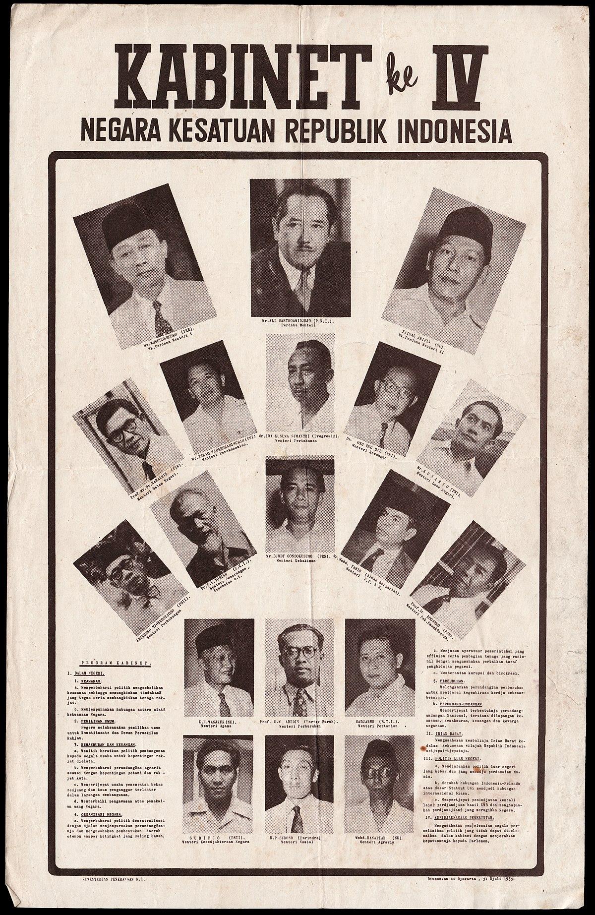 First Ali Sastroamidjojo Cabinet  Wikipedia