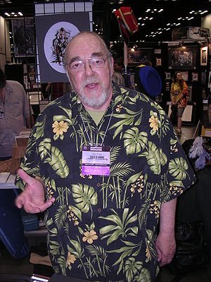 Gary Gygax at Gen Con Indy 2007. Gygax is stan...