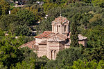 Holy Apostles church ancient agora from Acropolis Athens