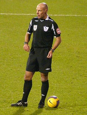 English: English football (soccer) referee How...