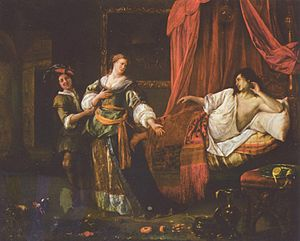 Amnon and Tamar, painted by Jan Steen