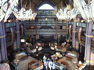 Lobby of Disney's Animal Kingdom Lodge, Orland...