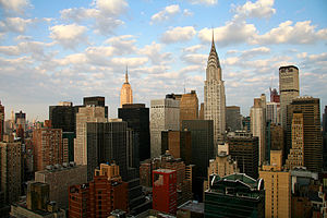 English: Manhattan, New York City on an early ...