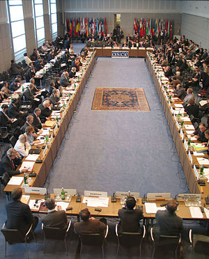 A meeting of the OSCE Permanent Council in the...