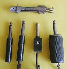 mini jack to xlr wiring diagram 1999 gmc sonoma stereo phone connector audio wikipedia old style male tip sleeve pin or connectors the leftmost plug has three conductors others have two at top is a conductor panel