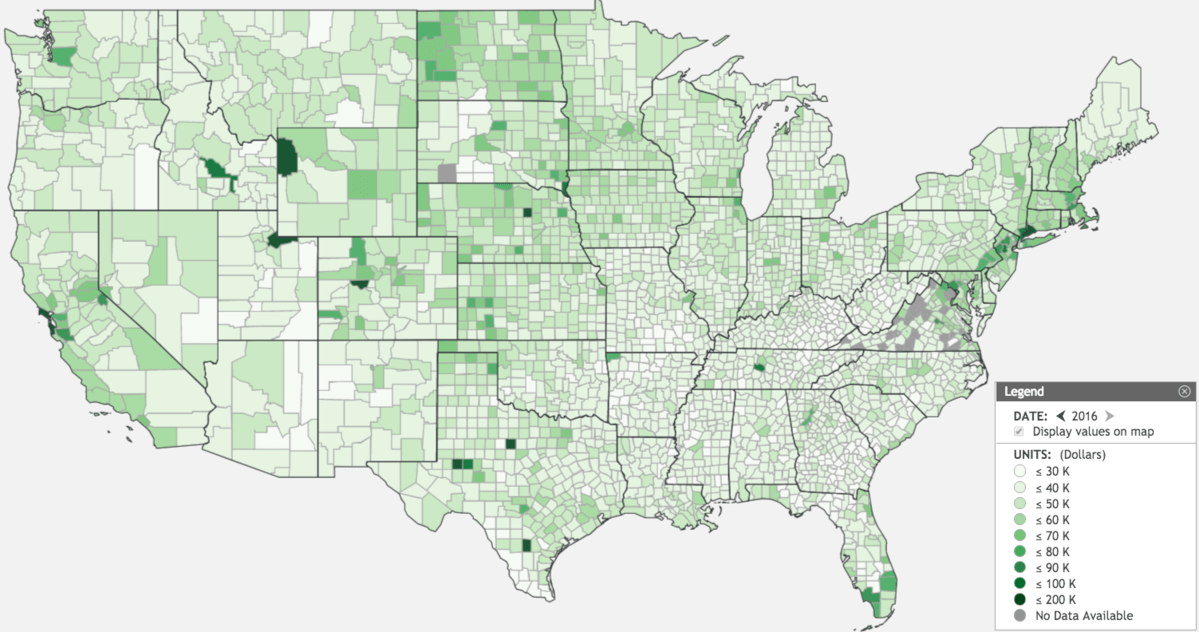 Us Map Income County