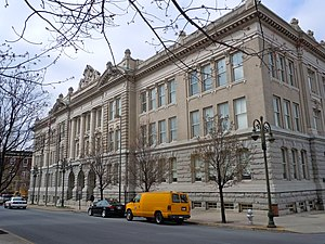 English: Reading City Hall on the NRHP since A...