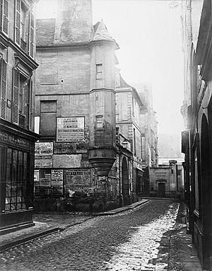 Photo of 21 rue Hautefeuille in Paris, dated 1...