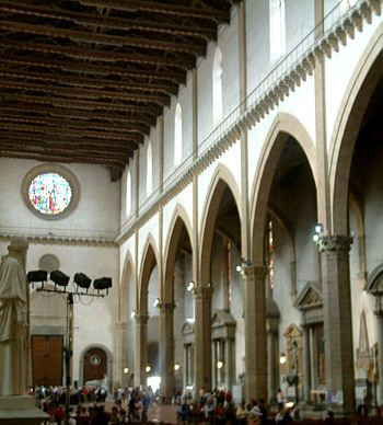 The interior of Santa Croce, Florence