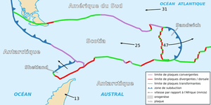 Map of the Scotia Plate