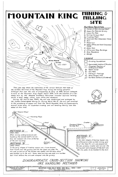 File:Site Plan and Diagrammatic Cross-Section Showing Ore