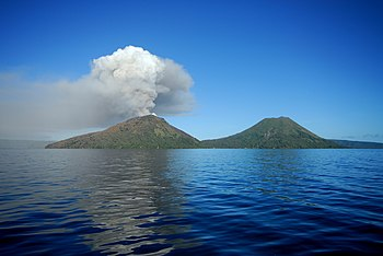 Mount Tarvurvur in Papua New Guinea