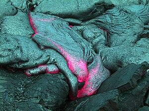 Underwater lava flow, off Hawaii