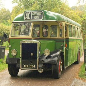 English: Agatha Christie Bus Tour bus (reg. AH...