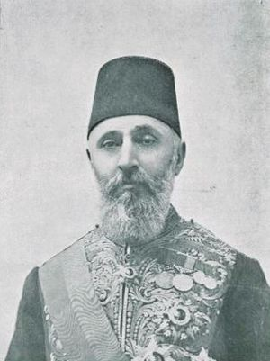 English: Ottoman Grand Vizier Ahmed Tevfik Pas...