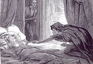 Illustration in Carmilla, Joseph Sheridan Le F...