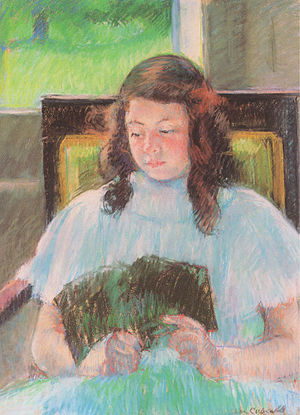 Cassatt Mary Young Girl Reading 1908