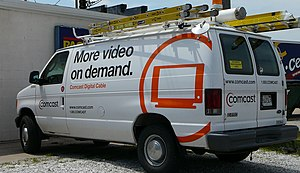 Picture of a Comcast service vehicle taken in ...