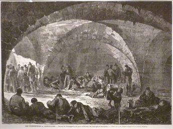 Commune de paris prisonniers à l'orangerie de Versailles