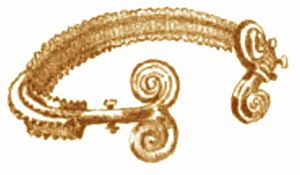 English: Gold bracelet Archaeological find fro...