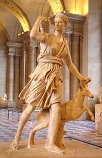 The Diana of Versailles, a Roman copy of a Greek sculpture by Leochares. (Louvre Museum)