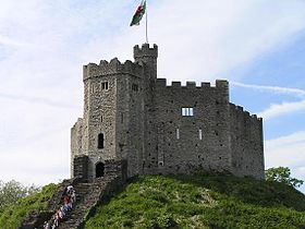 Fuerte normando del interior del Castillo de Cardiff.