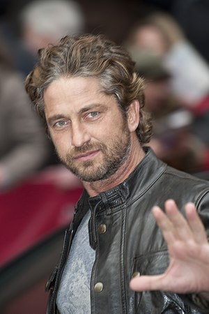 Scottish actor Gerard Butler at the press conf...