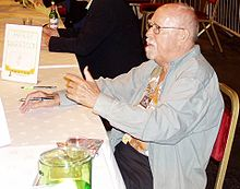 Harrison at the 63rd World Science Fiction Convention in Glasgow, August 2005