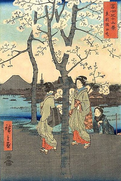 File:Hiroshige, 36 Views of Mount Fuji Series 7.jpg