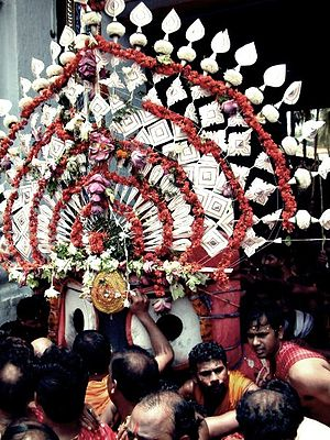 Pahandi bije of Jagannath during Ratha Yatra