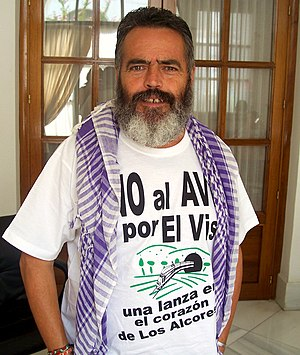 English: Juan Manuel Sánchez Gordillo, dirigen...