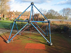 English: Kids Climbing Frame Always a worry fo...