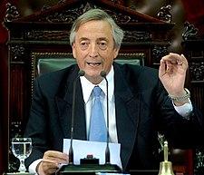 President Néstor Kirchner in March of 2007