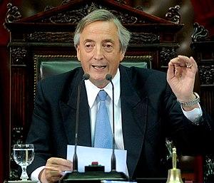 Español: El ex presidente argentino Néstor Kir...