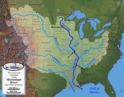 Lưu vực sông Mississippi và các phụ lưu chính
