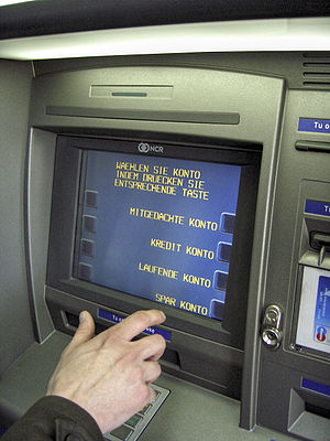 Automated teller machine (ATM) produced by NCR