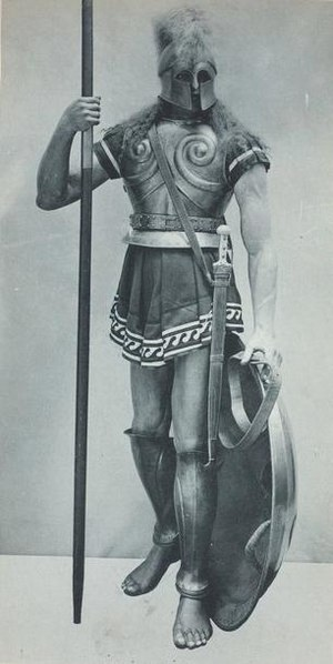 Spartan hoplite. Print from Vinkhuijzen Collec...