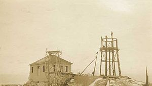 Split Rock Lighthouse construction