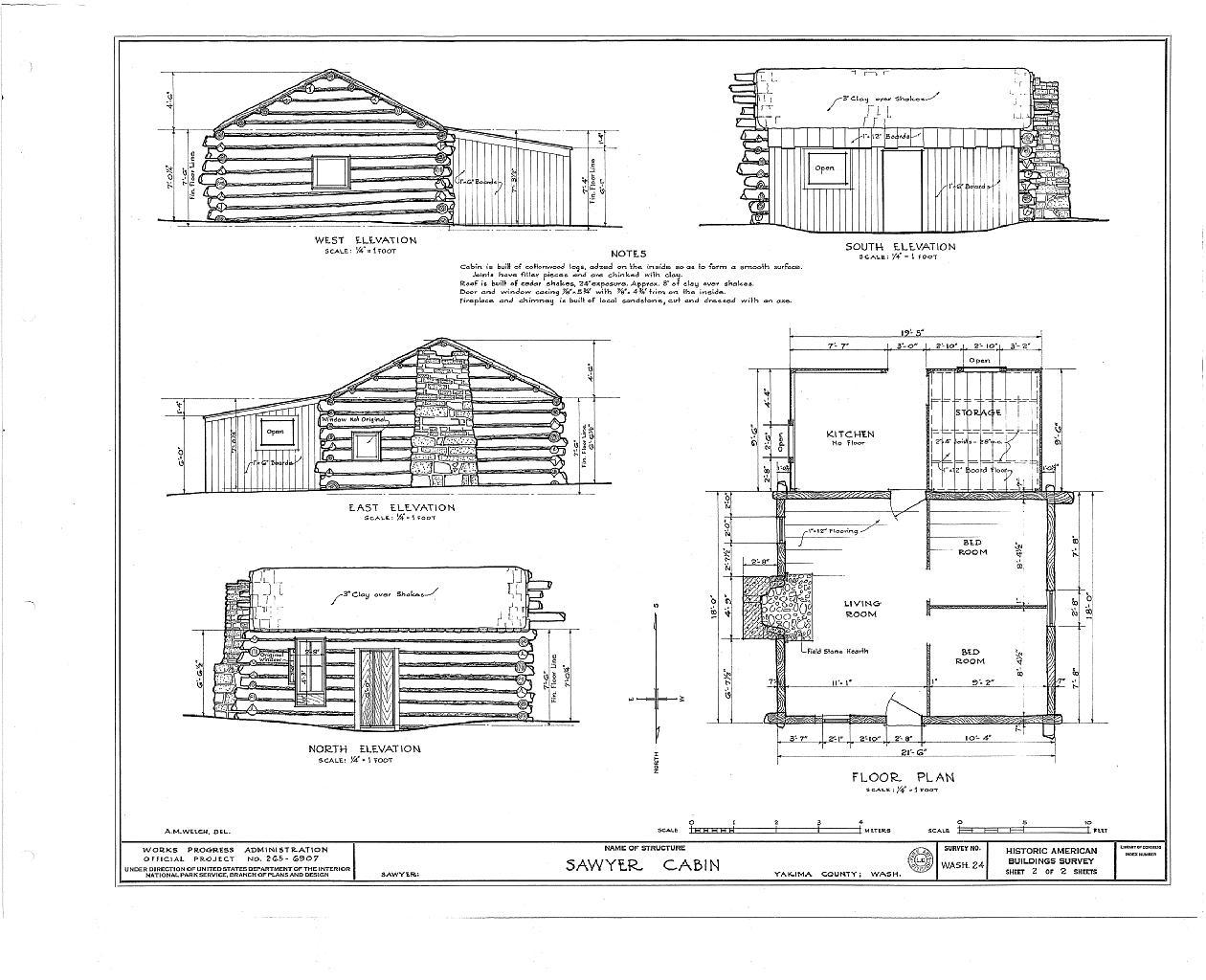 File:W. P. Sawyer Cabin, Sawyer, Yakima County, WA HABS
