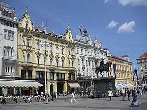 Ban Josip Jelačić main square