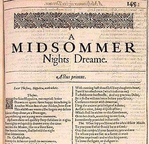 William Shakespeare, A Midsummer Night's Dream...