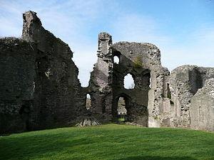 Abergavenny Castle curtain wall interior. Aber...