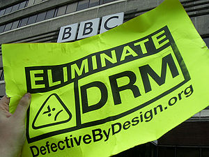 BBC DRM protest image