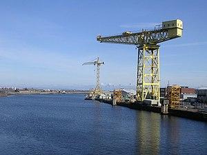 English: Buccleuch Dock, Barrow-in-Furness