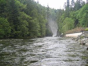 The Capilano River.