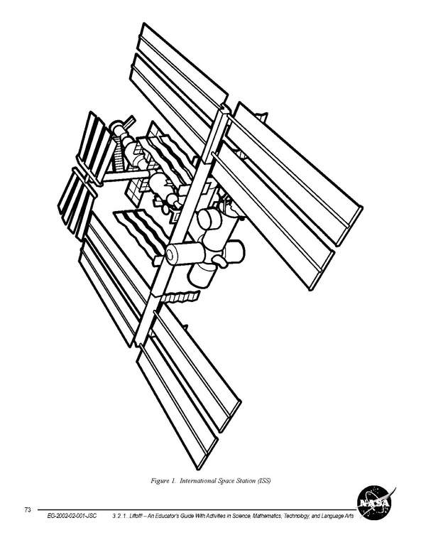 File:Colouring page of the International Space Station