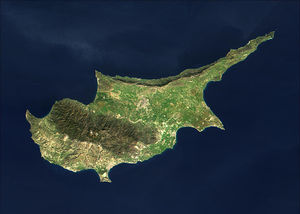 MODIS satellite image of Cyprus.