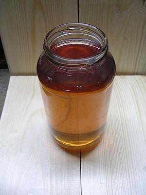 English: Loco diesel in mason jar