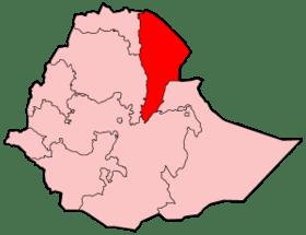 Mapa de Región Afar